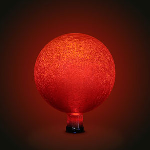 Gazing Ball 10 Inch Red Frosted