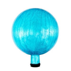 10 Inch Gazing Globe, Teal, Crackle