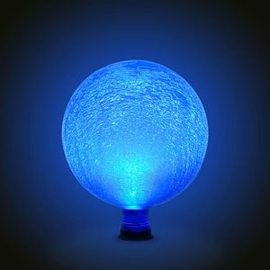 Gazing Ball 10 Inch Teal Frosted