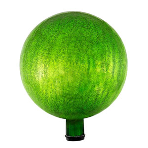 Fern Green Crackle 12-Inch Gazing Globe