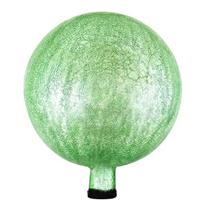 Light Green Crackle 12-Inch Gazing Globe