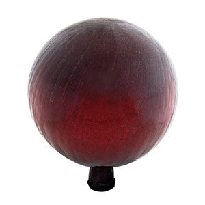 Gazing Ball 12 Inch Red Crackle