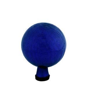 6 Inch Gazing Globe, Blue, Crackle - Globe Only