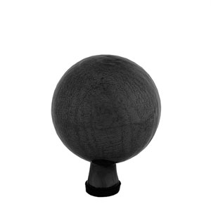 6 Inch Gazing Globe, Black Smoke, Crackle - Globe Only