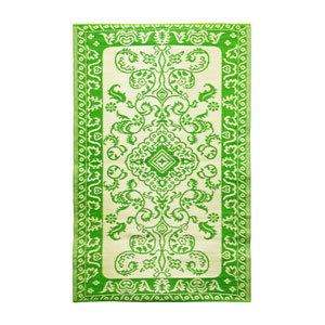 Tracery 4 x 6 Floor Mat Lime