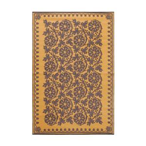 Cinquefoil 4 x 6 Floor Mat Cinnamon