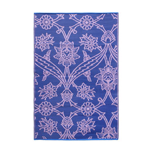 Fuchsia Flowers 4 x 6 Floor Mat Lavender