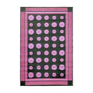 Dots 4 x 6 Floor Mat Berry