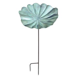 Large Lily Leaf Birdbath with stand