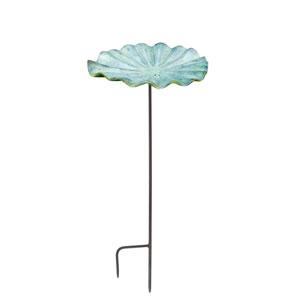 Small Lily Leaf II Birdbath with stand