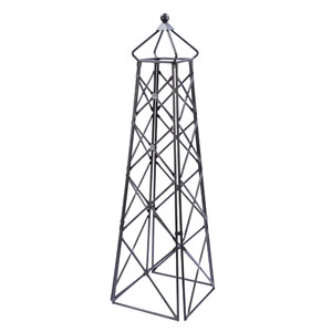 Wrought Iron Lattice Obelisk