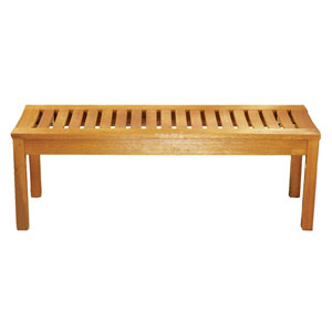Natural Oil Backless Bench