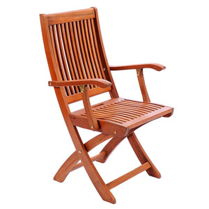 Hardwood Folding Chair with Arms