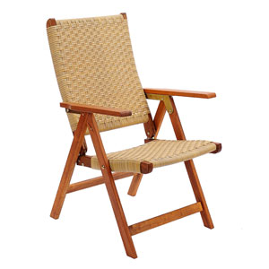 Poly Weave Natural Oil Folding Chair