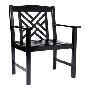 Fretwork Black Arm Chair