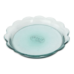 Scalloped Rim Recycled Glass Tray