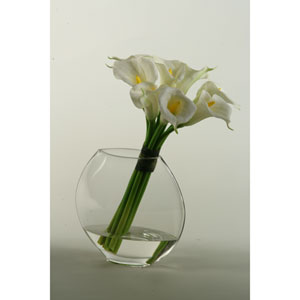 Natural Touch Callalilies in Glass Pillow Vase