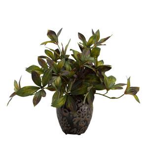 Peony Foliage in Ceramic Ginger Jar