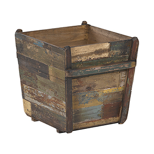 18 In. Antique Wooden Planter