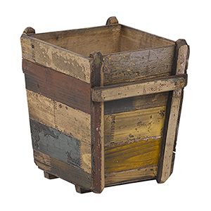 12.5 In. Antique Wooden Planter