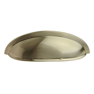 Satin Nickel 3-Inch Shallow Cup Pull