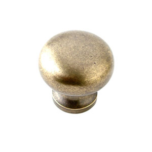 Antique Brass 1.25-Inch Round Knob Tumbled