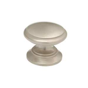 Stainless Steel 1.25-Inch Ringed Knob Solid