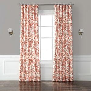 Edina Rust 96 x 50-Inch Printed Cotton Curtain Single Panel