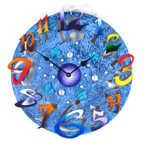 Big Time Purple Wall Clock by David Scherer