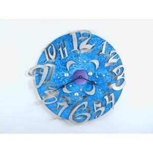 Big Time Teal Wall Clock by David Scherer