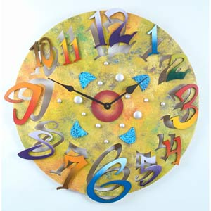 Big Time Yellow Wall Clock by David Scherer