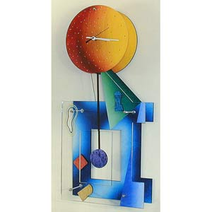 Ebony Color Wall Clock by David Scherer