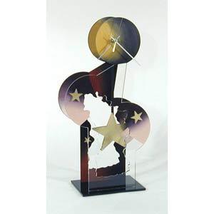 Gold Star Table Clock by David Scherer
