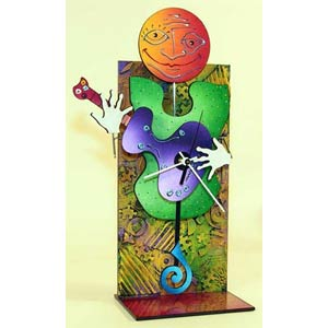 It Is a Puzzle Table Clock by David Scherer