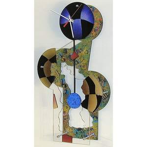 Jester Texture Wall Clock by David Scherer