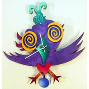 P. Birdie Wall Clock by David Scherer