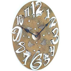 Small Oval Stone Wall Clock by David Scherer