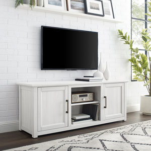 Camden Whitewash 58-Inch Low Profile TV Stand