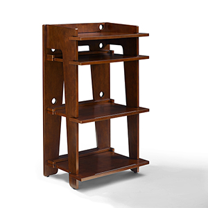 Soho Mahogany Solid Hardwood and Veneer Turntable Stand