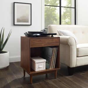 Liam Walnut 20-Inch Storage End Table