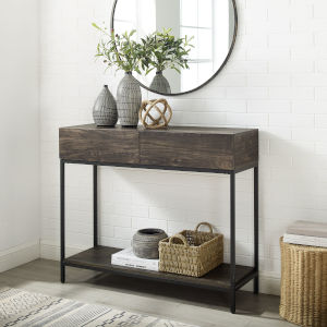 Jacobsen Brown Ash and Matte Black Console Table