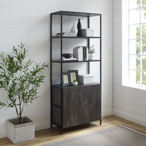 Jacobsen Brown Ash Matte Black Large Etagere