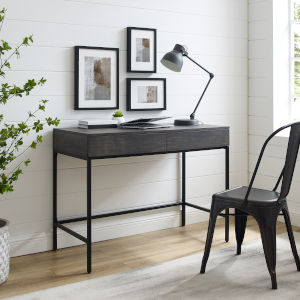 Jacobsen Brown Ash Matte Black Desk