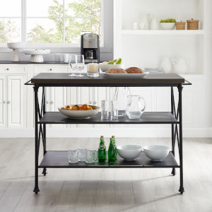 Madeleine Brown and Matte Black Kitchen Island