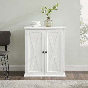 Clifton Distressed White Stackable Kitchen Pantry