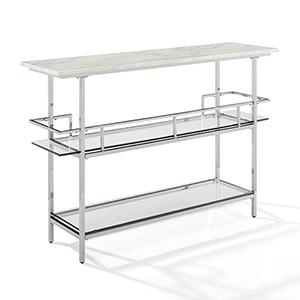 Aimee Chrome Steel and MDF Bar