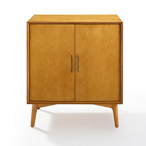 Landon Acorn MDF and Birch Veneer Bar Cabinet