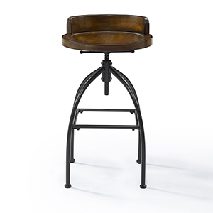 Edison Natural Adjustable Height Bar Stool