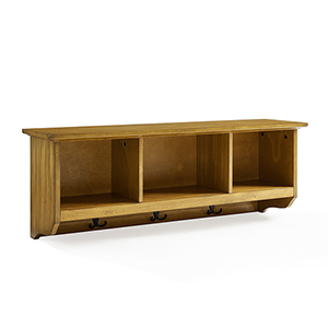 Brennan Natural Fiber Board and Birch Veneer Entryway Storage Shelf