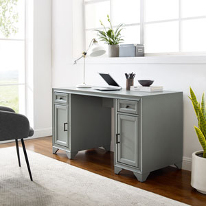 Tara Distressed Gray Desk